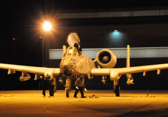 Going down in history: 188th Warthogs fly last night training mission