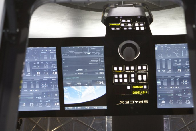 SpaceX Dragon cockpit