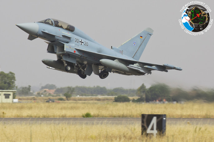 GAF Typhoon take off