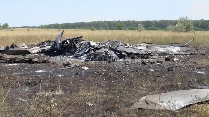 Mig-29 shot down wreck