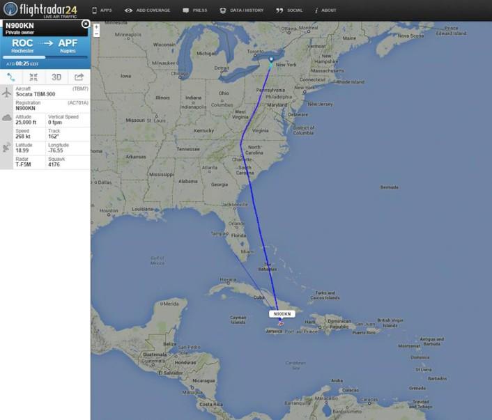 Flightradar24 TBM700