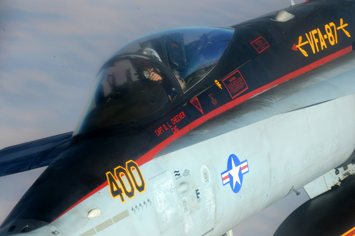 US.Navy F-18E Super Hornets supporting operations against ISIL