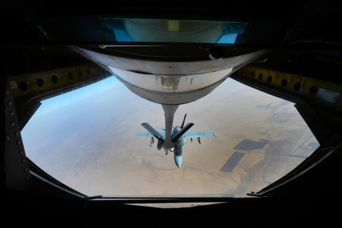 US Navy F-18E Super Hornets supporting operations against ISIL
