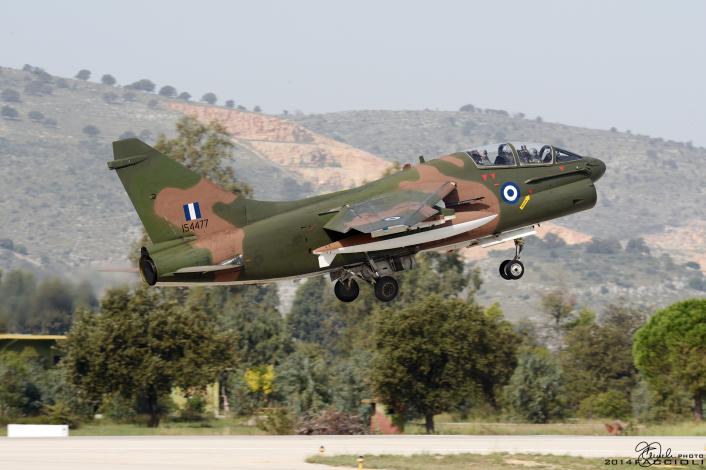 TA-7 takeoff