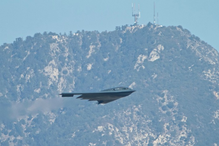 B-2 over the Rose Bowl 3