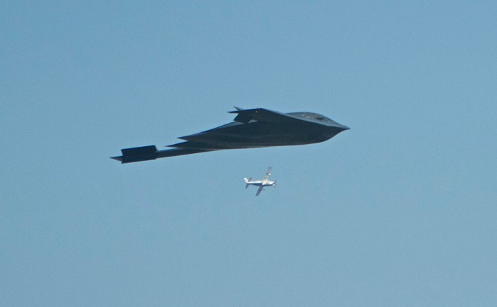 B-2 over the Rose Bowl 5