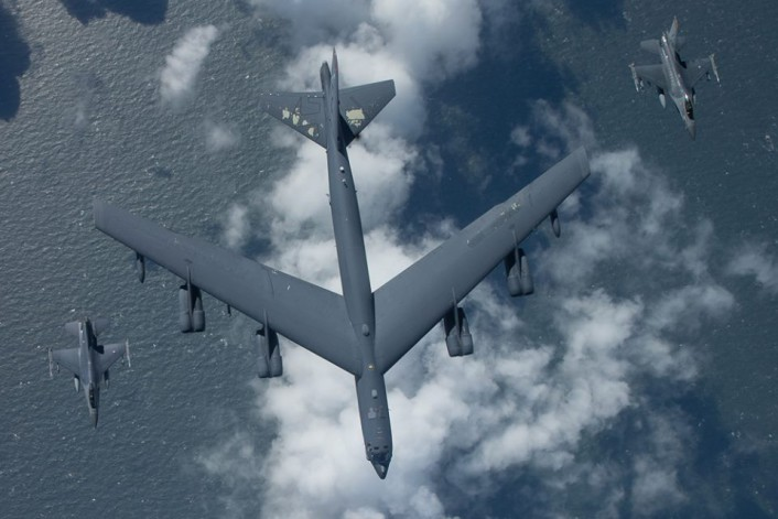 RNlAF F-16 intercept B-52