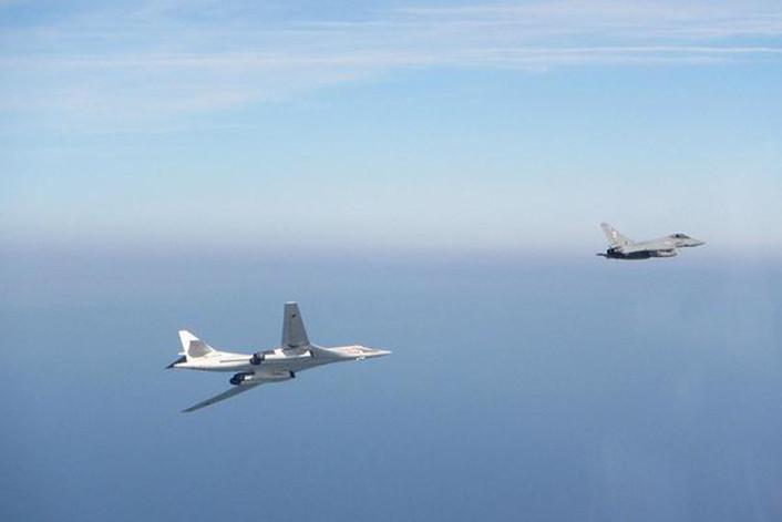 Tu-160 intercepted Typhoons