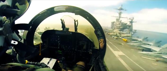 Hornet Ball 2015 cockpit
