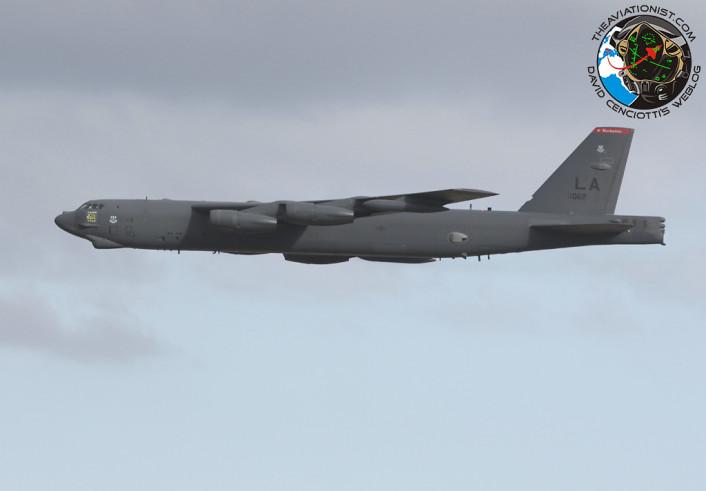 B-52 low over Gando 3