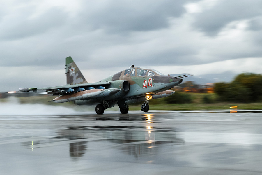 Russian Air Force Su 25 Frogfoot Attack Aircraft Dropped