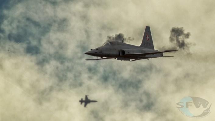 F-5 Swiss Air Force shockwave