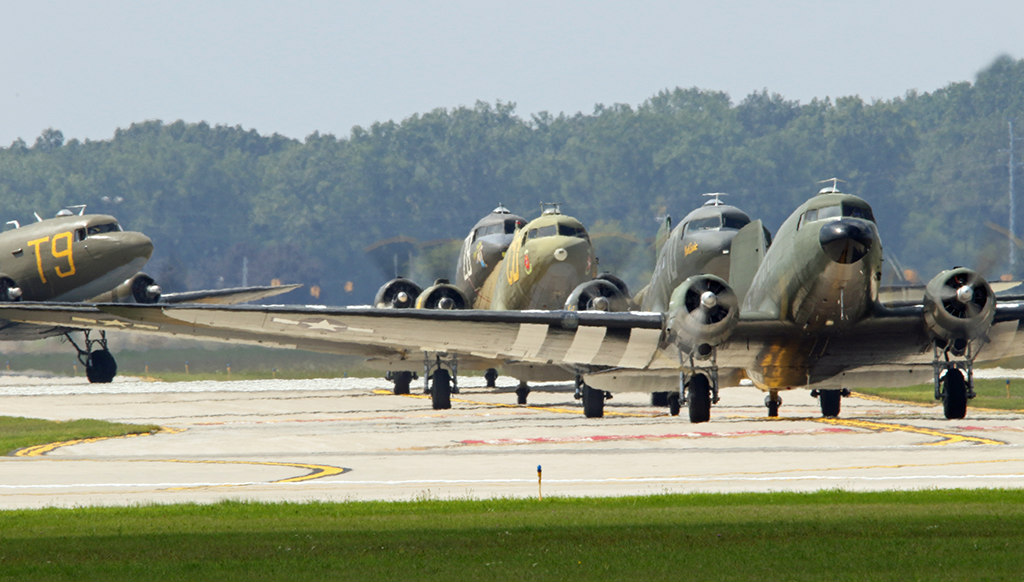 20+ Douglas C-47 Skytrain transport planes to fly from the
