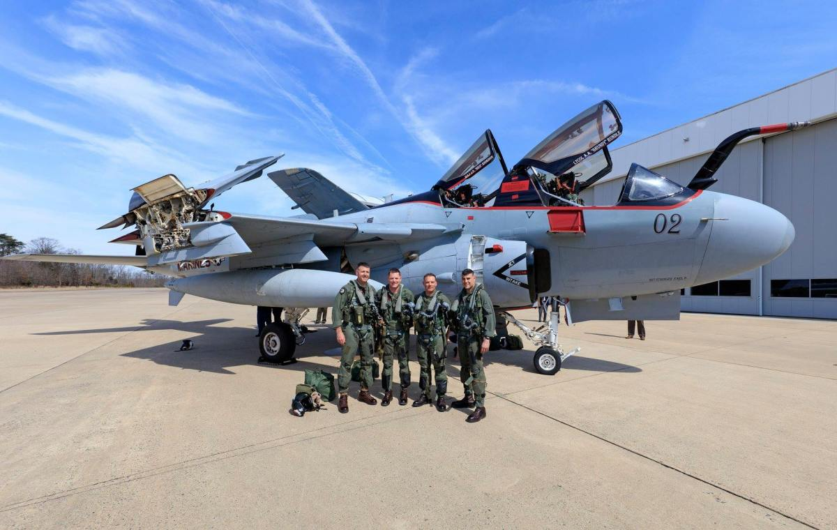 MCAS Cherry Point – Dulles International Airport was the last-ever flight of an EA-6B Prowler before retirement
