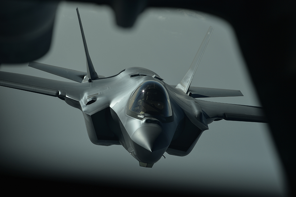 U S  Air Force's F-35A Jets With Radar Reflectors And