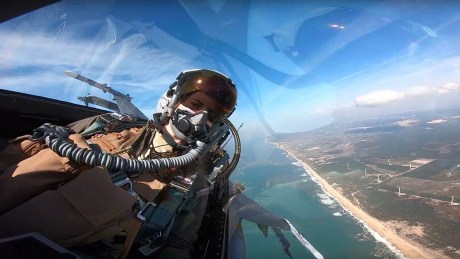 "Check Out This Cool GoPro Video Of The 480th FS ""Warhawks"" F-16CMs Flying Over Portugal"