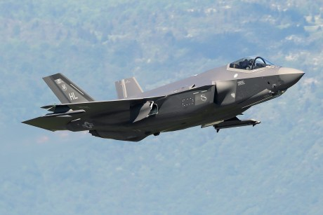 "Four F-35A Jets Undergoing Evaluation In Payerne To Replace Swiss Air Force F-5 And F/A-18 Aircraft As Part Of ""Air 2030"""