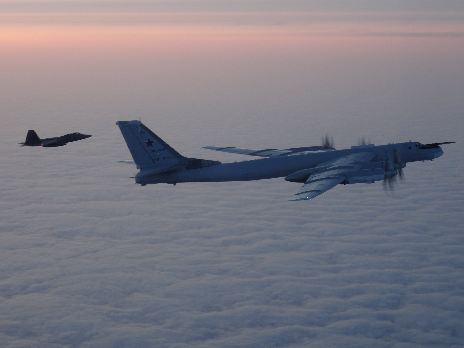 U.S., Canadian Jets Intercept Russian Bombers Off Alaskan Coast
