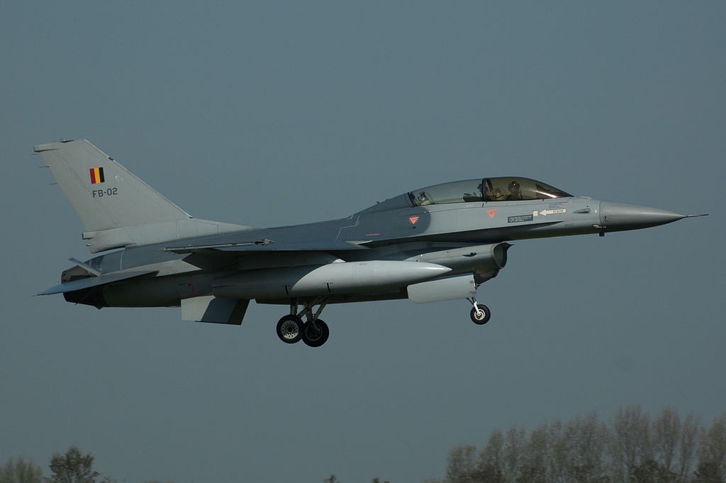 Pilot 'caught on electricity line' as F-16 jet crashes in France