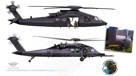 """The Story Of The """"Famous"""" Renderings Of The Secretive Stealth Black Hawk revealed by the Osama Bin Laden raid"""