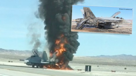 Australia Won't Get Compensation For EA-18G Growler Aircraft That Burst Into Flames At Nellis Air Force Base in 2018