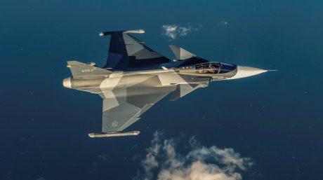 Saab Unveils Gripen E In Brand New Splinter Color Scheme