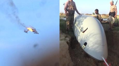 Houthi Rebels Claim To Have Shot Down Saudi Apache Gunship And Wing Loong UAV in Yemen.