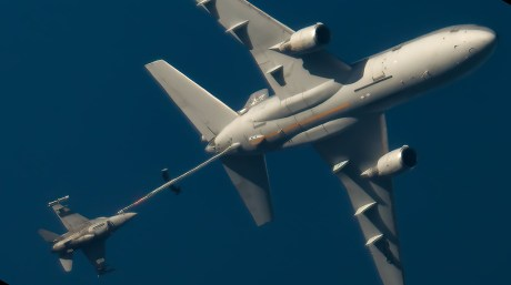 Take A Look At The Crazy Cool Shots Of A Dutch KDC-10 Tanker Refueling Polish F-16s Taken With A Telescope