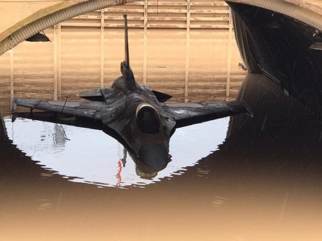 Israeli Air Force's F-16s Damaged By Flooding at Hatzor Airbase
