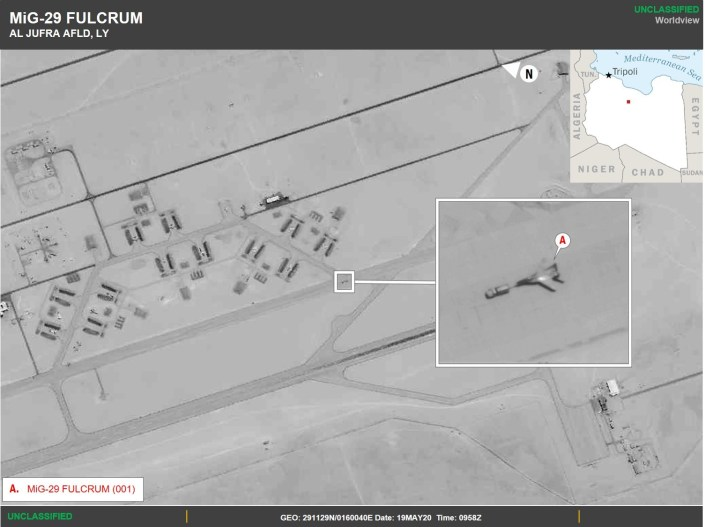 MiG 29 Al Jufra - U.S. Africa Command Confirms Russia Deployed Military Fighter Aircraft to Libya, Shares Images