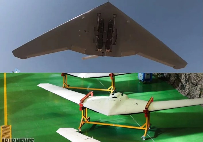"Iranian drones 4 - Iran showcases Shahed 181 and 191 drones during ""Great Prophet 14"" Exercise"