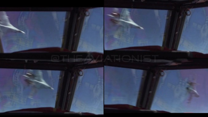 Su 27 unsafe intercept sequence top - Cockpit Video Shows Russian Su-27 Flanker Crossing Within 100 feet Of The Nose Of A B-52 Over The Black Sea