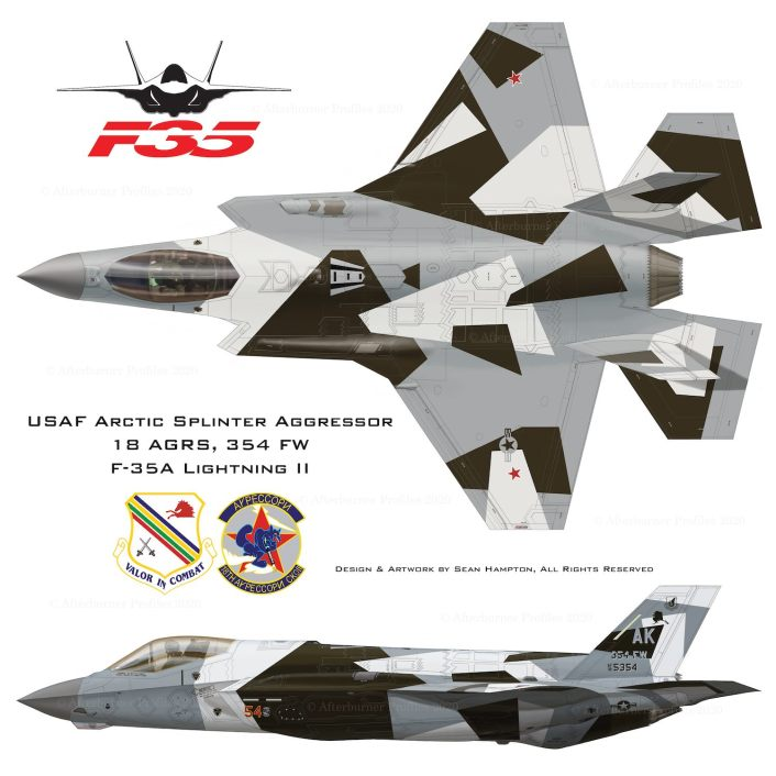 Arctic Splinter full - These Are Some Of The Designs Submitted For The New Aggressors F-35 Color Scheme