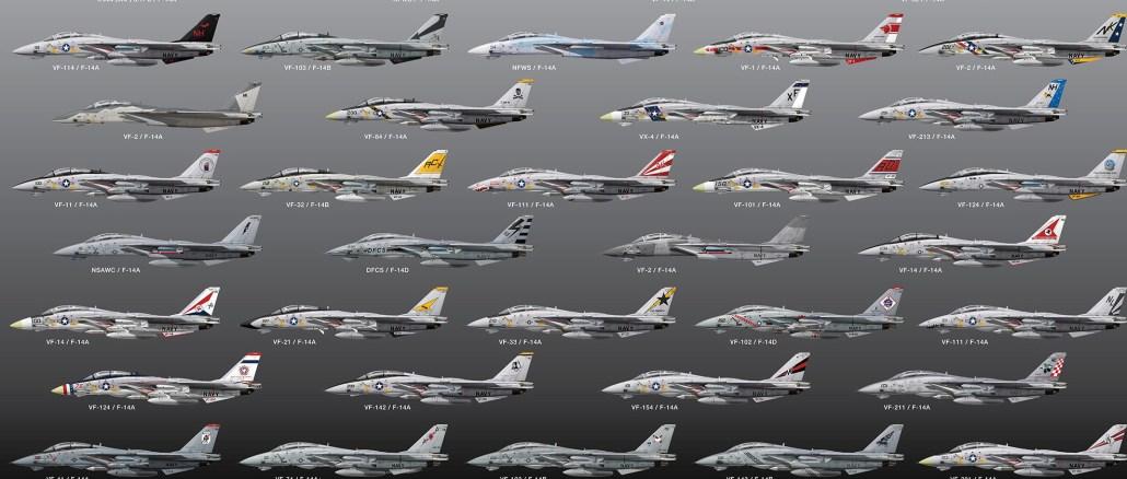 F-14 Tomcat Paint Schemes