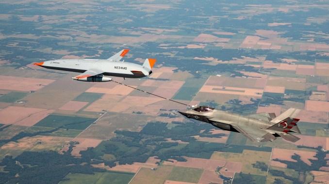 MQ-25 refuel F-35