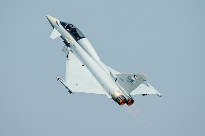Eurofighter Kuwait 2 - Kuwait's First Two Eurofighter Typhoons Break Cover, Perform First Flight