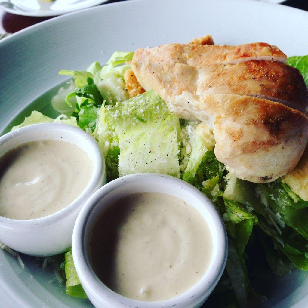 Mum had the Caesar Salad.