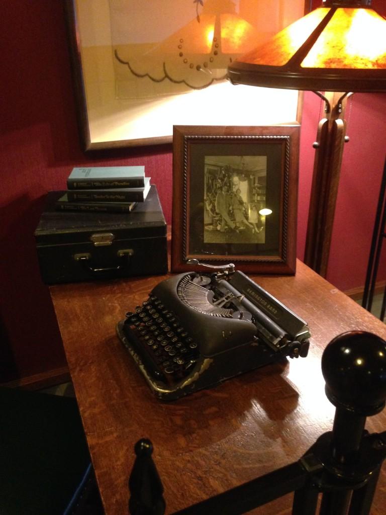 F. Scott Fitzgerald's typewriter...