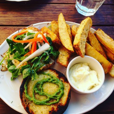 Mum went with the Avocado & Green Goddess Sandwich with Frites.