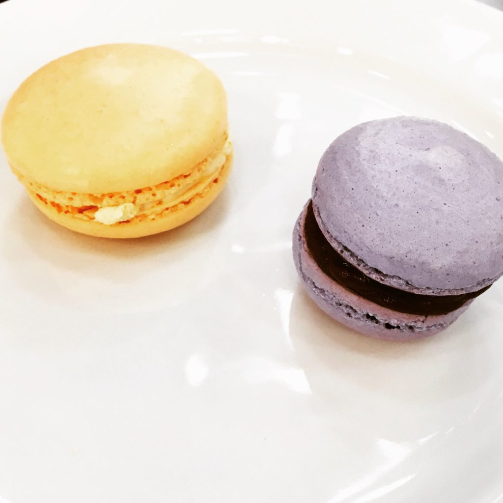 Stars of the show... Almond and Blackberry Macarons