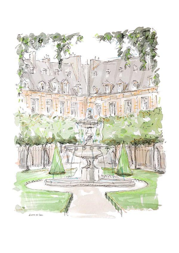 Parisian Postcards with Illustrator Lina Nordin Gee