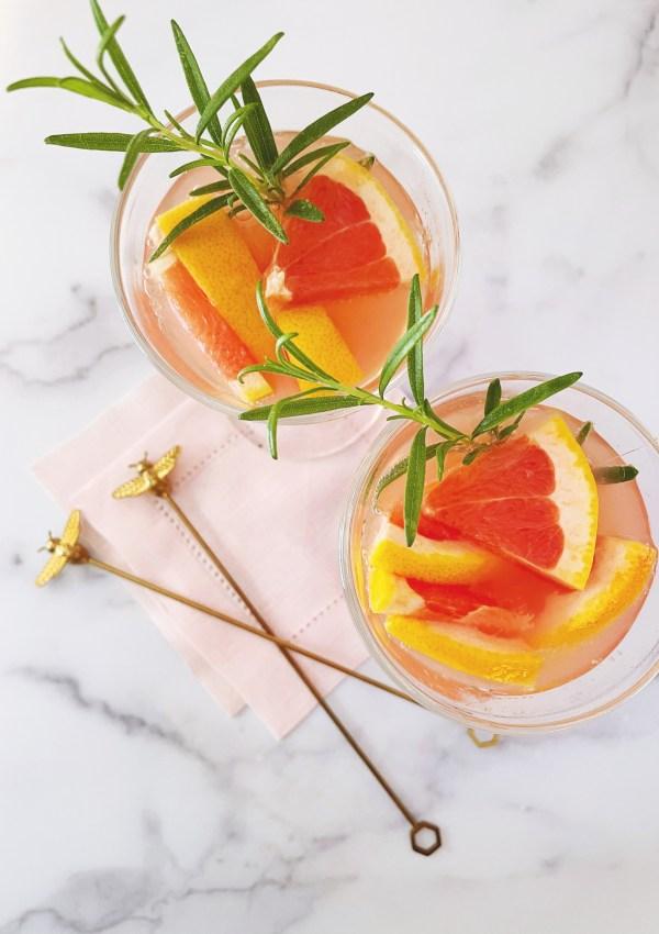 Grapefruit & Rosemary Spritzer