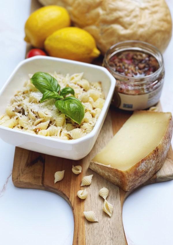 A Summery Antipasto Pasta Salad with Fiore Sardo