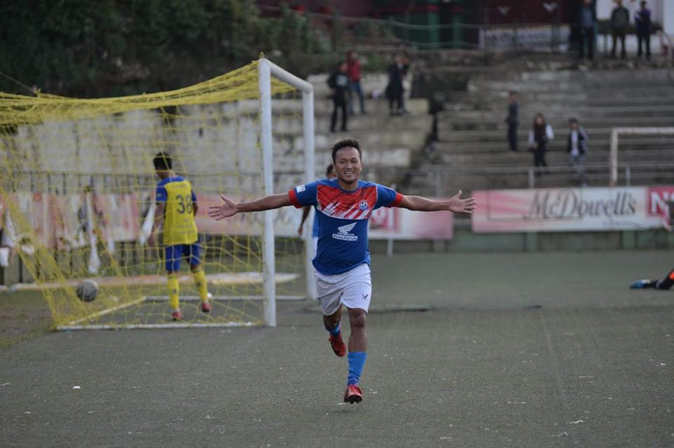 Escape to Victory: Laldampuia scored an injury time winner to keep Chanmari FC's hopes alive in the Mizoram Premier League Photo Courtesy: Mizoram Football Association