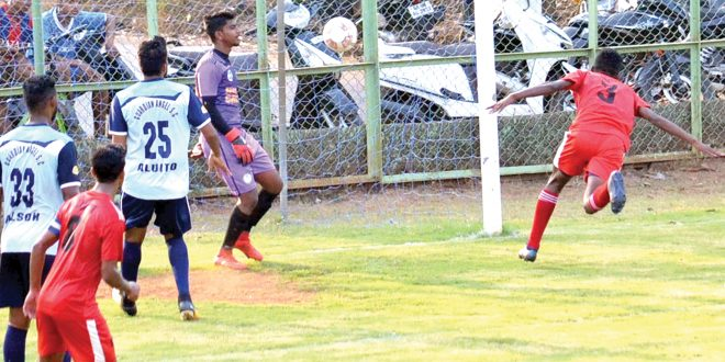 Calangute Association FC put 7 past Guardian Angel FC in the Goa Professional League.  Photo Courtesy: The Navhind Times