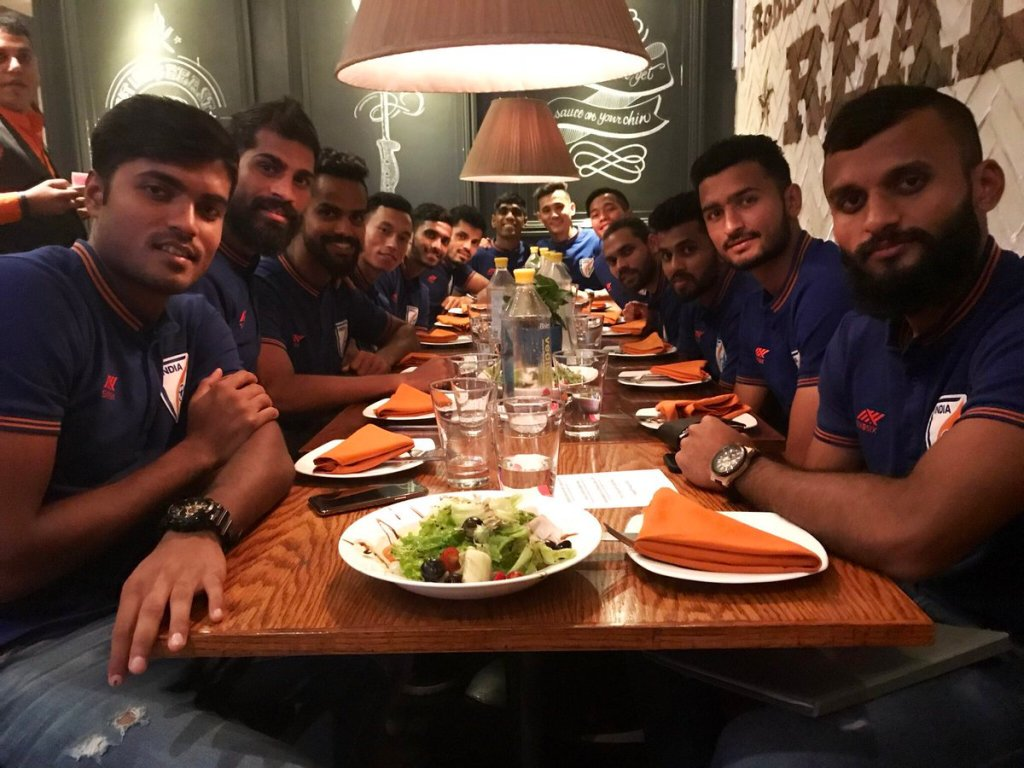 Indian National Football Team for King's Cup 2019