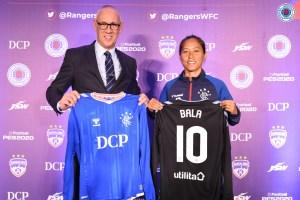 Rangers Women's FC sign Ngangom Bala Devi on an 18 month deal