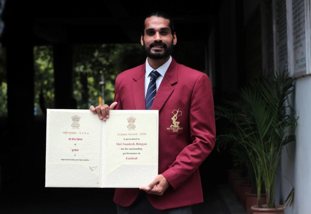 Sandesh Jhingan was conferred with the Arjuna Award in 2020
