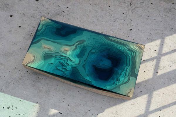 amazing table designs - deep ocean - top view