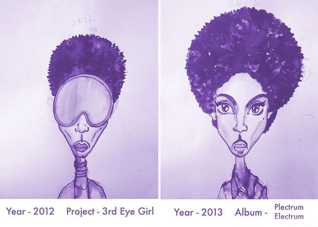 Prince's Hair Styles From 1978 To 2013 19